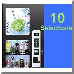 10 selection vending machine