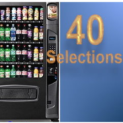 40 selection vending machines
