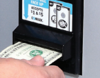 dollar bill acceptor for vending machines
