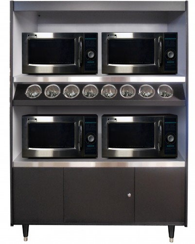 AS492-8-MT-NL Condiment Stand And Microwave Stand